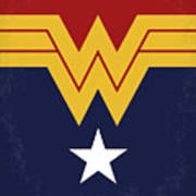 No825 My Wonder Woman Minimal Movie Poster Poster