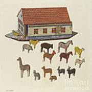Noah's Ark And Animals Poster