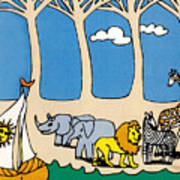 Noah's Ark Poster by Genevieve Esson