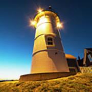 Nobska Light Falmouth Ma Cape Cod Window Shadow Poster