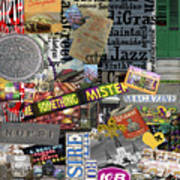Nola Collage Art Shotgun House Poster