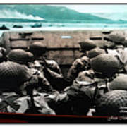 Normandy Soldiers Poster