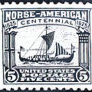 Norse-american Centennial Stamp Poster