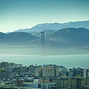 North Beach And Golden Gate Poster by Hal Bergman Photography