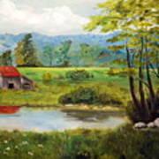 North Carolina Farm Poster