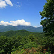 North Carolina Mountains In The Summer Poster