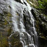 North Carolina Waterfall Hickory Nut Falls Photography  Poster