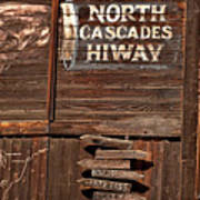 North Cascade Hiway Signs Poster
