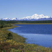 North Face Of Mount Mckinley, Lake Poster