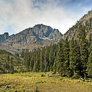 North Face Of Mount Sneffels Above Blaine Basin In The San Juan Mountains Of Colorado Poster