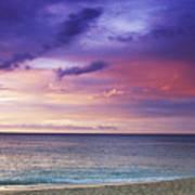 North Shore Beach Sunset Poster