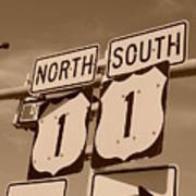 North South 1 Poster