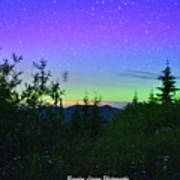 Northern Lights At Mount Pilchuck Poster