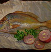 Northern Scup With Dill Onion Poster