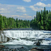 Northern Waterfall Poster
