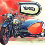 Norton Side Car Poster