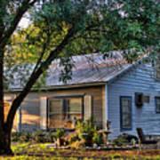 Nostalgic Old Cottage In Evening Light Poster