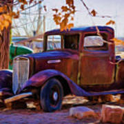 Nostalgic Rusty International Pickup Poster