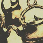 Nostalgic Tea Break Poster