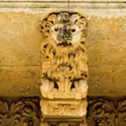 Noto, Italy - Detail Of Baroque Balcony, 1750 Poster