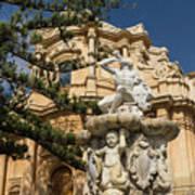 Noto Sicilian Baroque - Church Of San Domenico On A Bright Sunny Day Poster