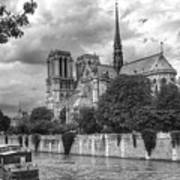 Notre Dame And Seine Poster