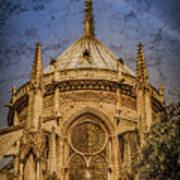 Paris, France - Notre-dame De Paris - Apse Poster