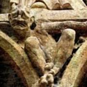 Notre Dame Gargoyle - Paris Poster by Jen White