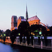 Notre Dame On The Seine Poster
