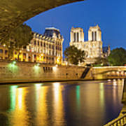 Notre Dame - Paris Night View Poster