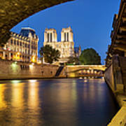Notre Dame - Paris Night View II Poster