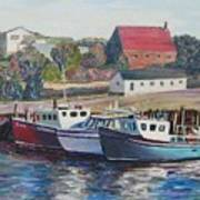 Nova Scotia Boats Poster