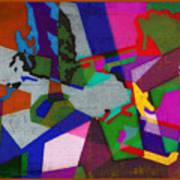 Nu Wall Graffiti Horns In The Landscape Of Sound/tony Adamo Poster