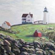 Nubble Light House Poster