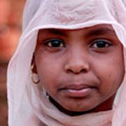 Nubian Girl In Color Poster