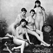 Nude Group, 1889 Poster