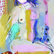 Nude With Yellow Stripe Poster