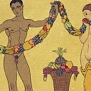 Nudes  Illustration From Les Chansons De Bilitis Poster