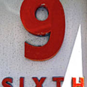 Number 9 Sixth From A 50's Building Poster