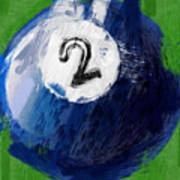 Number Two Billiards Ball Abstract Poster