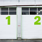 Numbers On Repair Shop Bay Doors Poster