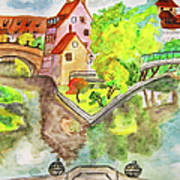 Nuremberg, Hand Drawn Picture Poster