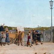 Nursery School Children On The Kirchenfeld Bridge Poster