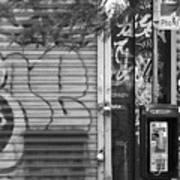 Nyc Graffiti Blk N Wht Poster