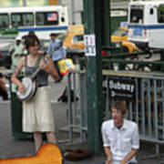 Nyc Street Musicians Banjo Poster