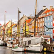 Nyhavn Area Copenhagen Poster