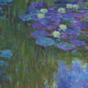 Nympheas En Fleur, 1914 To 1917  Poster