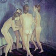 Nymphs Playing Poster by Masami Iida