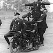 Nypd Motorcycle Stunts Poster