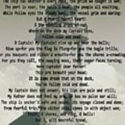 O Captain My Captain Lighthouse Poster